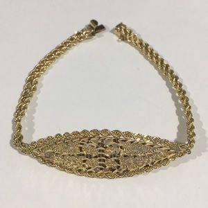 Jewelry - 14k Yellow Gold Butterfly 🦋 Rope Chain Bracelet